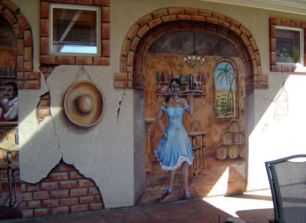 Storied walls exterior murals gallery for Exterior mural painting
